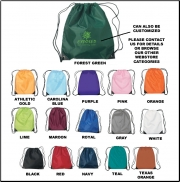 Drawstring Cinch Sack Backpack - Blank