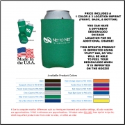 Economy Koozie Can Cooler - Screen Printed